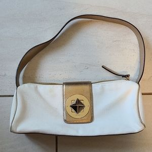 Kate Spade Cream Gold Metallic Small Evening Bag